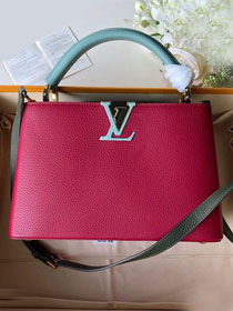 2019 louis vuitton original calfskin capucines pm M51779 burgundy