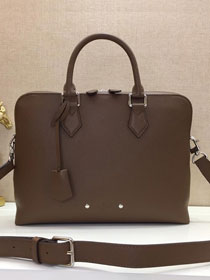 Louis vuitton original calfskin armand briefcase pm m53489 dark coffee
