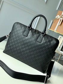 Louis vuitton original monogram calfskin documents n41248 black
