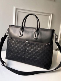 Louis vuitton original monogram calfskin macassar bag n41565 black
