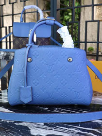 Louis vuitton original monogram empreinte montaigne BB M41053 blue