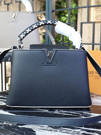 Louis vuitton orignal calfskin capucines pm M52389 black