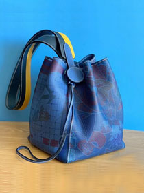 2019 Hermes original evercolor calfskin licol bucket bag H50006 blue