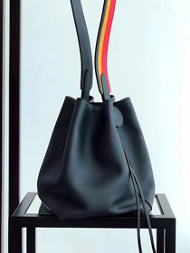 2019 Hermes original evercolor calfskin licol bucket bag H50008 black