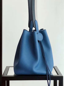 2019 Hermes original evercolor calfskin licol bucket bag H50008 blue