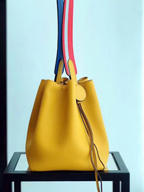 2019 Hermes original evercolor calfskin licol bucket bag H50008 yellow