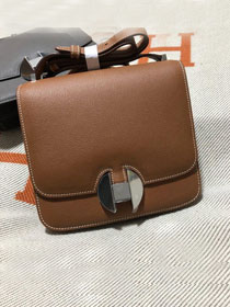 2019 Hermes original handmade evercolor calfskin 2002 bag H075133 coffee