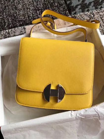 2019 Hermes original handmade evercolor calfskin 2002 bag H075133 yellow