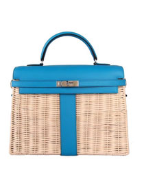 2019 Hermes original picnic kelly 35 bag H50003 blue