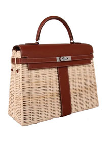 2019 Hermes original picnic kelly 35 bag H50003 coffee