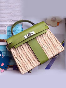 2019 Hermes original picnic kelly 35 bag H50003 green