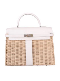 2019 Hermes original picnic kelly 35 bag H50003 white