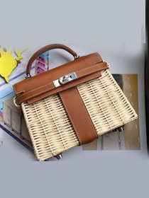 2019 Hermes original picnic mini kelly 20 bag H50002 coffee