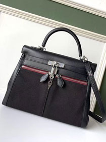 2019 Hermes original swift leather lakis kelly 32 bag H21028 black