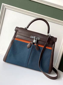2019 Hermes original swift leather lakis kelly 32 bag H21028 blue