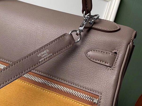 2019 Hermes original swift leather lakis kelly 32 bag H21028 yellow