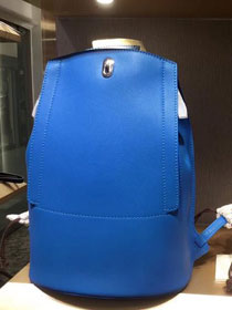 Hermes original handmade calfskin GR24 backpack H071346 blue