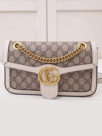 2019 GG original canvas small marmont bag 443497 white