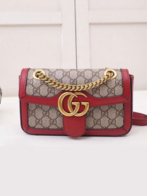 2019 GG original canvas mini marmont bag 446744 red