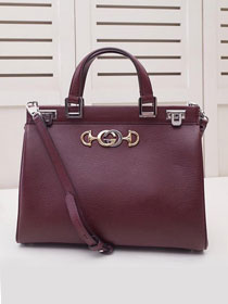 2019 GG original grainy calfskin zumi medium top handle bag 564714 burgundy