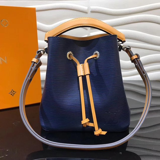 2019 louis vuitton original epi leather neonoe BB M53610 navy blue