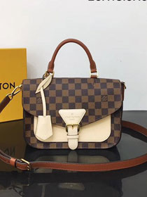 2019 louis vuitton original damier ebene crossbody flap bag N40148 beige