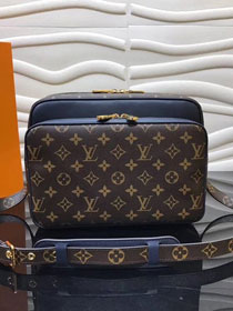 Louis vuitton original monogram nil slim messenger bag m41477 blue