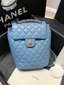 CC original calfskin small backpack A69964 light blue