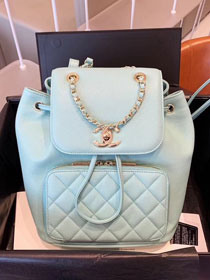 CC original grained calfskin backpack A93748 sky blue