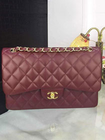 CC original handmade lambskin large flap bag A58600 bordeaux