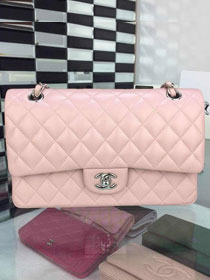 CC original handmade lambskin medium flap bag A01112 pink
