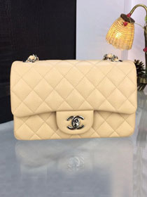 CC original handmade lambskin mini flap bag A69900 apricot