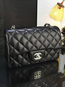CC original handmade lambskin mini flap bag A69900 black