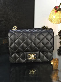 CC original handmade lambskin super mini flap bag A35200 black