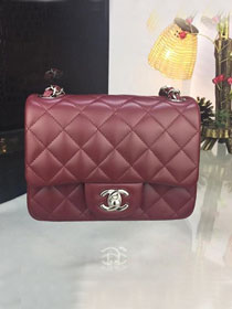 CC original handmade lambskin super mini flap bag A35200 bordeaux