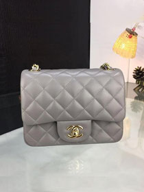 CC original handmade lambskin super mini flap bag A35200 grey