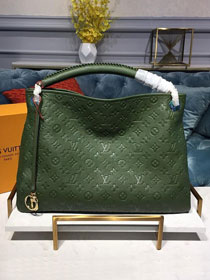 Louis vuitton original monogram empreinte calfskin artsy mm m43876 blackish green