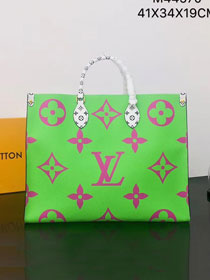2019 louis vuitton original monogram coated canvas onthego tote bag M44570 green