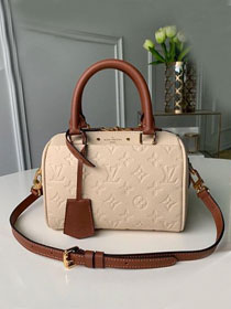 Louis vuitton original monogram empreinte mini speedy 20 M42397 beige