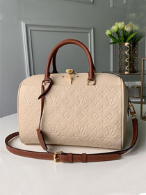 Louis vuitton original monogram empreinte speedy 25 M42406 beige