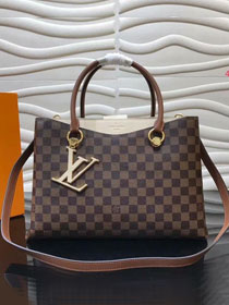 2019 louis vuitton original damier riverside tote bag n40135 beige