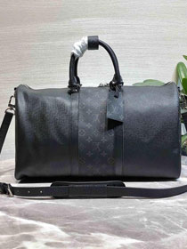 Louis vuitton original taiga leather keepall bandouliere 45 M94416 black