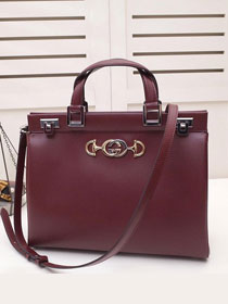 2019 GG original smooth calfskin zumi medium top handle bag 564714 bordeaux