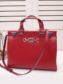 2019 GG original smooth calfskin zumi medium top handle bag 564714 red