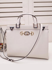 2019 GG original smooth calfskin zumi medium top handle bag 564714 white