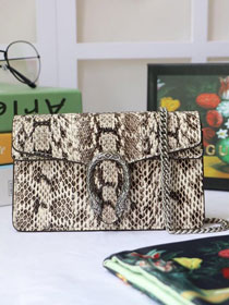 2019 GG original python leather dionysus mini shoulder bag 476432 beige