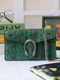 2019 GG original python leather dionysus mini shoulder bag 476432 green