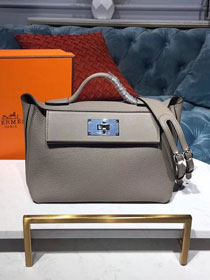 2019 Hermes original togo leather small kelly 2424 bag H03698 grey