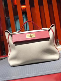 2019 Hermes original togo leather kelly 2424 bag H03699 beige
