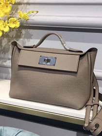 2019 Hermes original togo leather kelly 2424 bag H03699 grey